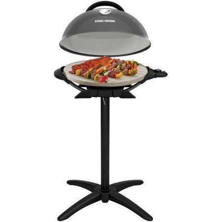 George Foreman 15-Serving Indoor/Outdoor Electric Grill, Silver,...