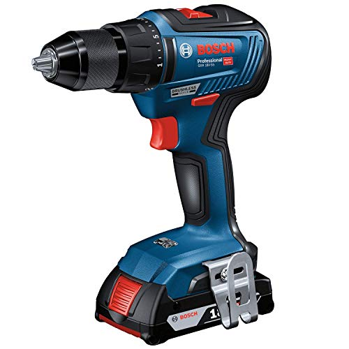 Bosch Professional GSR 18V-55 Accuschroevendraaier, zonder accu, 18 volt systeem, max. draaimoment: 55 Nm, in doos)