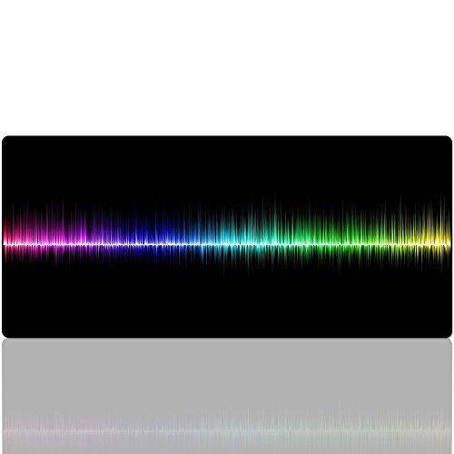Beyme Gaming Mauspad, Extended XXL Regenbogen Mauspad/Wide Office Mauspad-Das Mauspad Größe:900 x 400 x 2 mm (90x40 Rainbow)