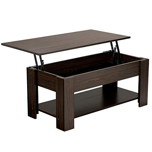 Lift Top Coffee Table with Hidden Compartment Now $93