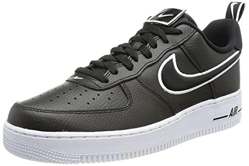 Nike Air Force 1, Scarpe da Basket Uomo, Black/Black-White, 45 EU