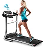 Merax Folding Electric Treadmill Motorized Running Machine Easy Assembly Electric Treadmills for Home, Motorized Fitness Compact Running Equipment with LCD for Home (Black)