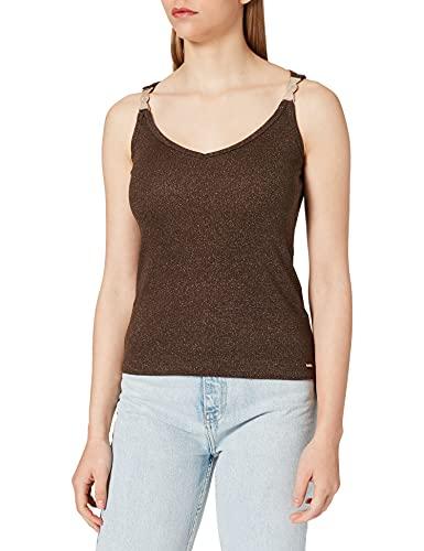 Morgan Debardeur Bijoux Epaule 211-DILAO Camisa Cami, marrón, L para Mujer