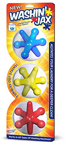 Washin' Jax Laundry Agitators | Chemical Free, Silicone Based Jax Enhance Cleaning Power of Your Washes | Unique Shape Allows For Better Clean When Compared to Agitation Balls