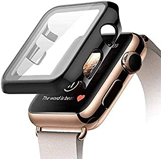 Case for For apple watch Series 3/2 Size 42mm with buit in Tempered Glass Screen Protector- all around Hard PC Protective ...