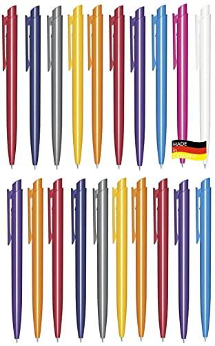 Libetui - Bolígrafos de colores para oficina y hogar, fabricados en Alemania, 50 unidades