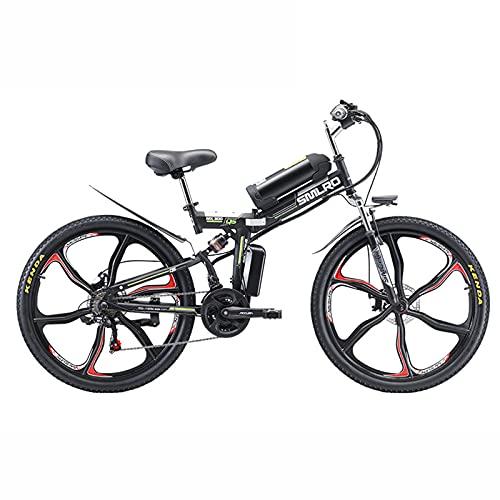 ZOSUO Herren Faltbares Fahrrad E-Bike Elektrofahrrad Alu 26 Zoll Mit Shimano 21-Gang-Getriebe Pedelec Trekkingrad Mit Motor 350W 48V8ah Abnehmbar Akku Hybridfahrrad