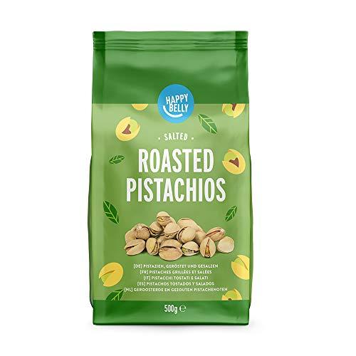 Marca Amazon - Happy Belly Pistachos tostados y salados, 2x500g