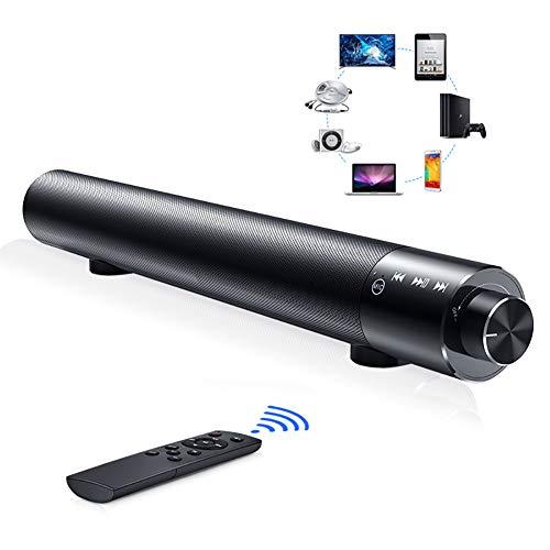 Linlin Soundbar met geïntegreerde subwoofer Surround Soundbar Bluetooth voor thuisbioscoop 5.0 voor tv en PC, met afstandsbediening + bluetooth-luidspreker met touchscreen