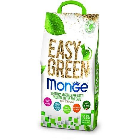 megazoo Monge lettiera Easy Green Gatti furetti rettili Cat 10 Litri biodegradabile WC 4 X