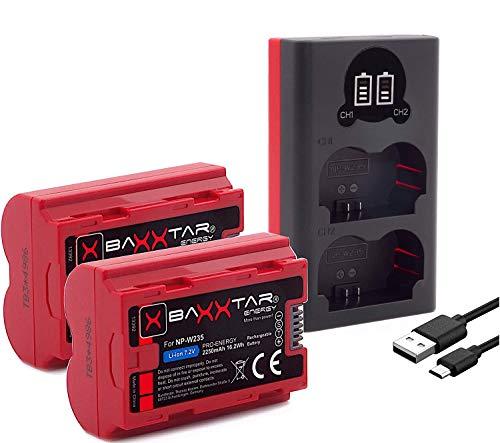 Baxxtar Pro 2X Compatible con la batería Fujifilm NP-W235 (Real 2250mAh) con Infochip - Mini 18882...