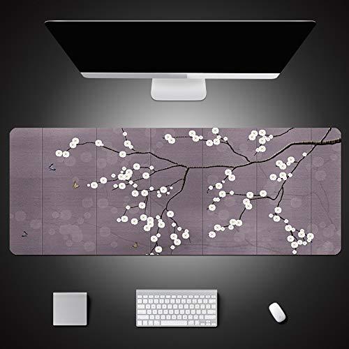 alfombrilla de ratón grande Alfombrilla de mesa con estampado de flores hermosas...