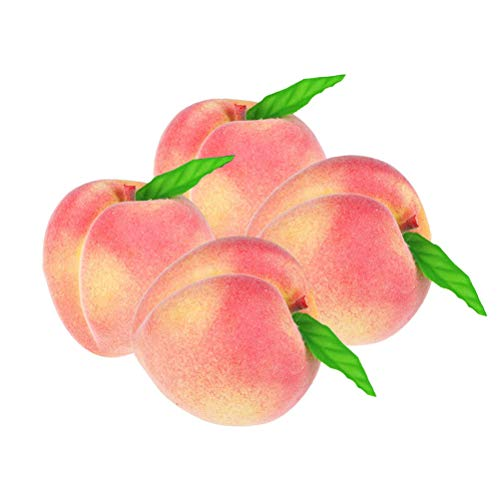 Gutyan Plastikobst Deko 4 STÜCKE Simulation Pfirsiche Schaum Pfirsiche Dekoration Gefälschte Frucht für Wohnkultur