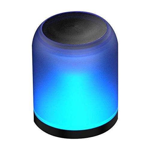 bowlder Kabelloser Bluetooth Mini Bluetooth Lautsprecher mit Bunter Atmosphärenbeleuchtung Wasser und Staubdichter SoundBox