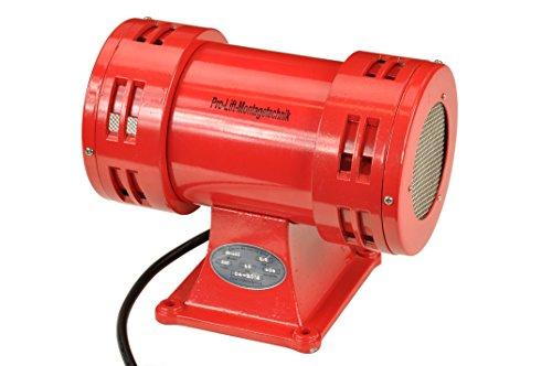 Pro-Lift-Montagetechnik 230V Sirene, Elektrosirene mit Bock, 113dB, rot, 00267
