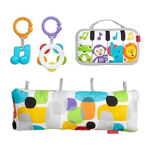 Fisher-Price GJD27 - Musik Spielkissen, Musikspielzeug zum Spielen in der Bauchlage, Babyausstattung ab der Geburt