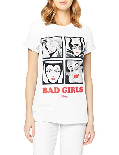 Disney Bad Girls Camiseta, Blanco (White White), 44 para Muj