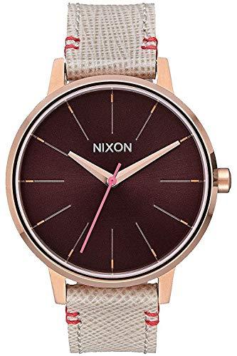 Nixon Kensington Damen Uhr analog Japanisches Quarzwerk mit Leder Armband A1081890