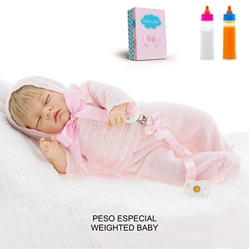 Maria Jesus Reborn Babys Simulation, Reborn Baby 45cm, Baby Puppe, babypuppe wie echtes Baby, Reborn Babys mädchen, Sondergewicht 1,1kg