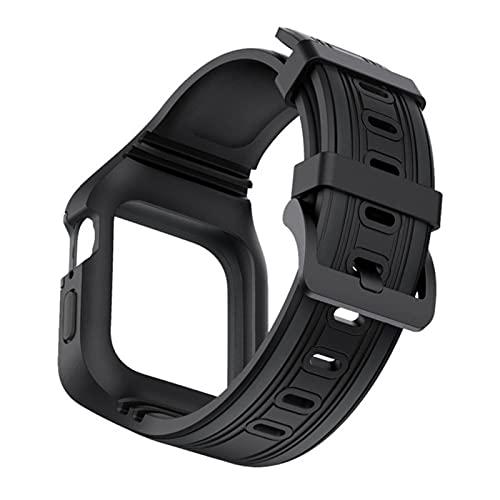 Correa de TPU suave con caja de marco para Apple Watch SE Series 6 5 4 bandas 44 mm Cinturón Pulsera deportiva Accesorios de pulsera de dos colores