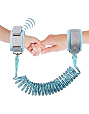 Anti Lost Wrist Link,ShowTop Kid Leash Harness with Induction Lock,Safety Wrist Leash for Toddlers,Babies & Kids, Wrist Traction Rope for Shopping & Travel 2M