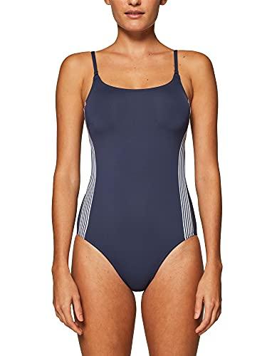 ESPRIT Damen Clearwater Beach Swimsuit Badeanzug, Blau (Navy 400), 40B