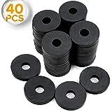 X-bet MAGNET - Round Ceramic Disc Magnets with Hole - Tiny Ring Bulk Lot of 40 Pcs - 1.2 I...