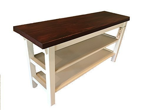 """Entryway/Kitchen / Bath Bench With Two Shoe Shelves - 12"""" Depth - In Your Choice Of Color And Size 24"""" To 46"""""""