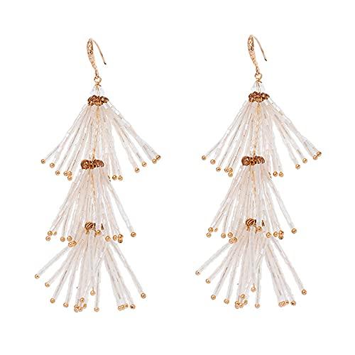 GYAM Pendientes Borla De Moda Pendientes De Cristal Personalizados para Accesorios De Vestido De Novia Estudio Fotográfico De Novia Foto Y Banquete