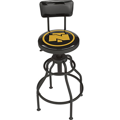 Northern Tool Adjustable Swivel Shop Stool with Backrest