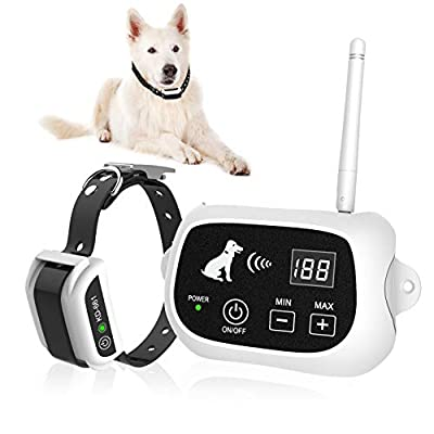UTOPB Wireless Dog Fence, Pet Containment System, Pets Dog Containment System Boundary Container with IP65 Waterproof Dog Training Collar Receiver, Adjustable Range, Harmless for All Dogs