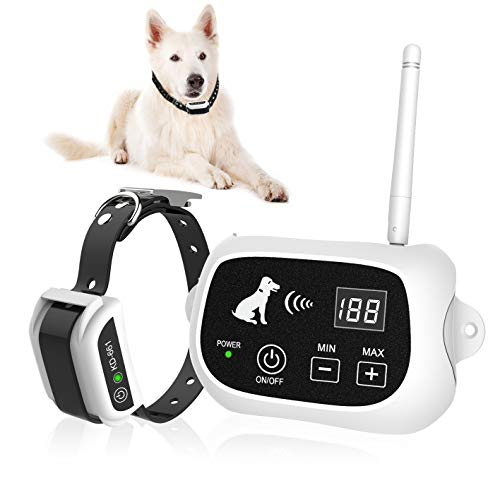 Wireless Dog Fence, Electric Wireless Dog Fence System for Dog, Pets Dog Containment System Boundary...