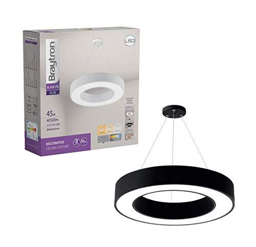 Lámpara LED de techo Blade PD, 45 W, redonda, color negro