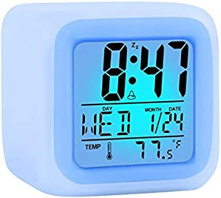 Kids Alarm Clock Wake Up Easy Setting Digital Travel, for Boys Girls, Large Display Time-Date-Alarm with Snooze, Bedside C...