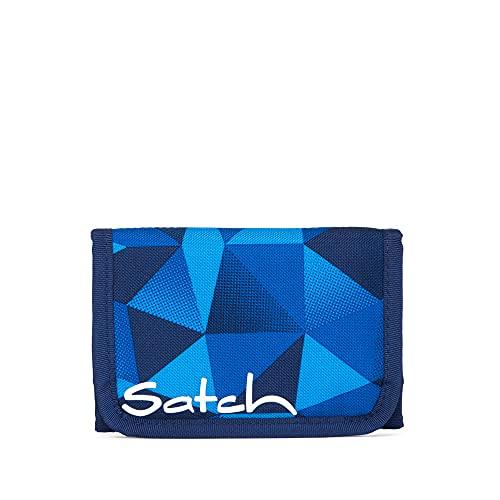Satch Blue Crush Geldbörse, Unisex, Kinder, Schwarz/Grün/Neon, Einheitsgröße
