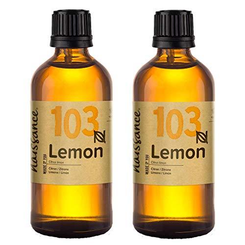 Naissance Huile Essentielle de Citron (n° 103) - 200ml (2 x 100ml) - 100% pure, naturelle et distillée à la vapeur – végan, non testé sur les animaux