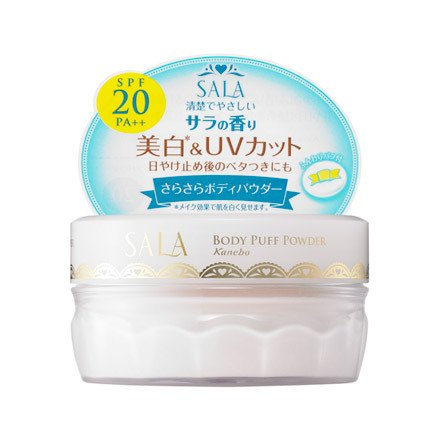 Kanebo Sala Body Puff Powder UV 40g - Floral Fragrance (Green Tea Set)