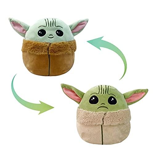Baby Yoda Doll, Reversible Yoda Plush, 6.2 Inch Baby Yoda Toys Show your Mood without Saying a Word! (Yoda)