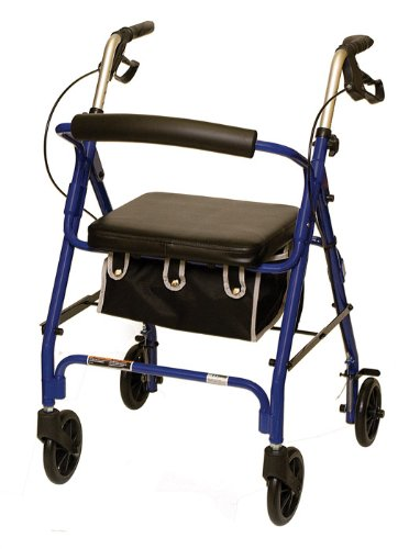 Super-cheap Challenge the lowest price of Japan ProBasics 1025 LPBL 4 Wheeled Aluminum With Seat Rollator Padded
