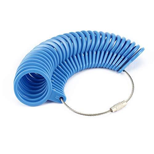 Ballylelly Schmuckwerkzeug Ring Sizer Fingergröße Messring Grundlegendes Schmuckmesswerkzeug Geeignet für Juweliergrößen von 0 bis 13 (US-Größe)