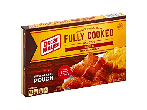 Oscar Mayer Original Fully Cooked Bacon, 2.52 Ounce -- 12 per case.