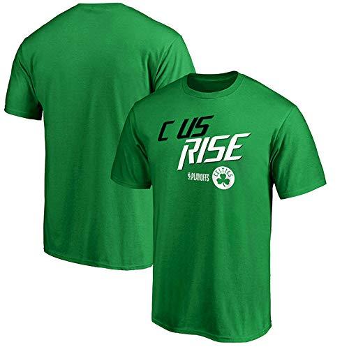 T-Shirt NBA New Boston Celtics Manches Mi-Longues Printemps Et D'été en Plein Air Top Sport Confortable J-L