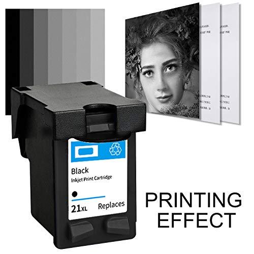 Impresora de inyección de tinta negra Reemplazo de cartucho de tinta Compatible con HP 21XL F2235 F2180 F2280 F370 3910 3920 3930 3940 OFFICEJET 4315 J3680