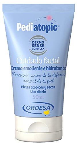 Pediatopic Cuidado Facial 50ml, crema emoliente e hidratante específica para pieles atópicas y/o altamente secas.