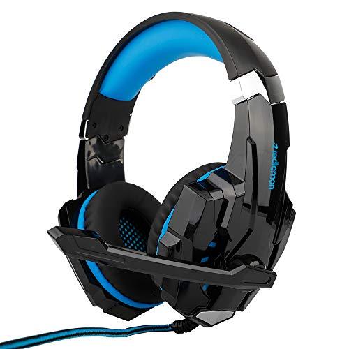 Redlemon Audífonos Gamer G9000 Sonido High Definition Estéreo 360°, con Micrófono de Cancelación de Ruido y Luz LED, Conector 3.5 mm de 4 Pines