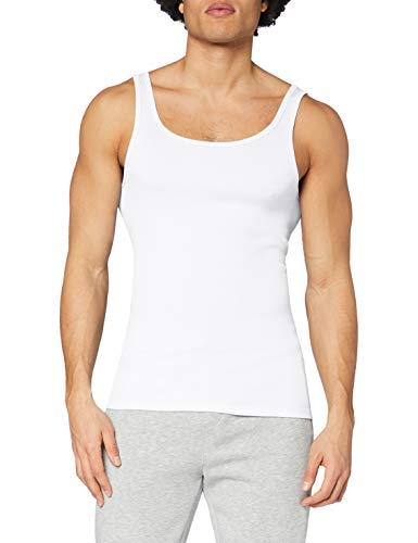 CALIDA Herren Athletic-Shirt Twisted Cotton Unterhemd, Weiß (Weiss 001), 52