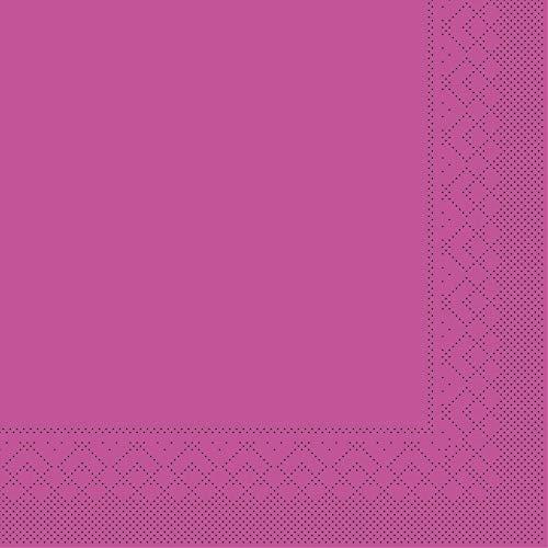 Mank Cocktail-Serviette | Servietten aus Tissue 25 x 25 cm ¼ Falz | Premium Einweg-Serviette | Basic | 100 Stück | praktische Einmal-Serviette für Gastronomie und Feiern | (Violett, 25 x 25 cm)