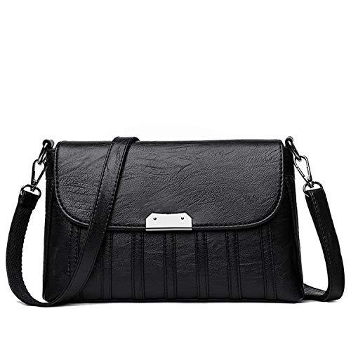 Bags handbags women famous brands leather shoulder bag fashion Sequined crossbody bag women messenger bags tote SAC,BLACK