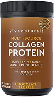 Multi Collagen Protein Powder, Chocolate Truffle (28.8 oz) - for Healthy Hair Skin and Nails, Paleo and Keto Friendly