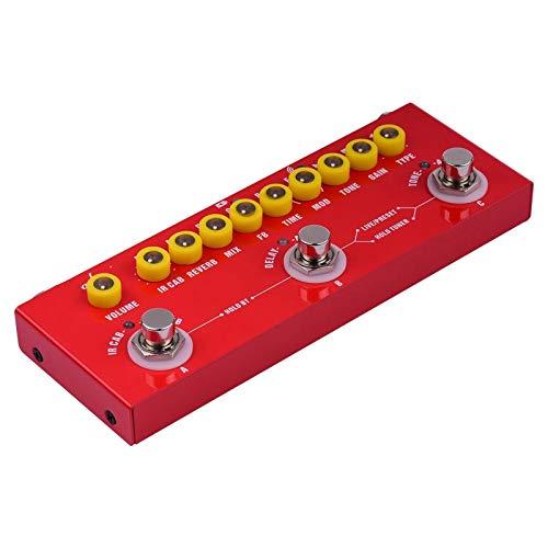 Pedal de Guitarra Guitarra eléctrica multifuncional portátil Pedal de efectos combinados Batería...